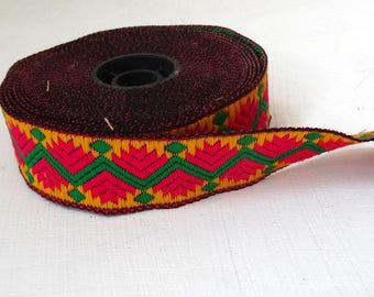 Yellow, red and green ethnic style Ribbon.