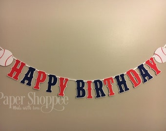 Baseball birthday banner  baseball theme