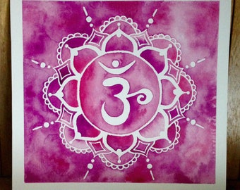 Crown Chakra Watercolour Art ~ Wall Art Meditation Spiritual Art Print