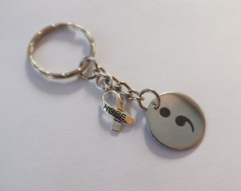 Semi Colon Key-chain Mental Health Awareness
