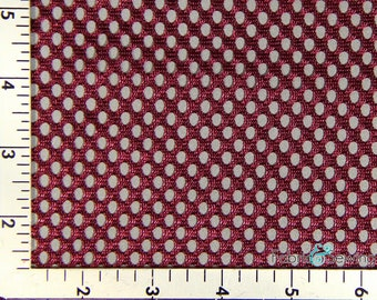 "Maroon Purple Round Hole King Mesh Fabric Polyester 5 Oz 58-60"" 130790"