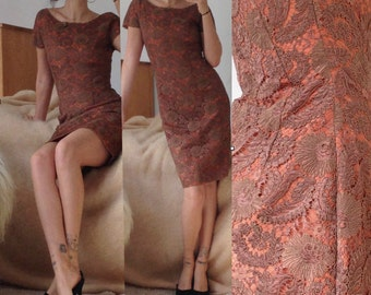 French Lace Wiggle Dress S