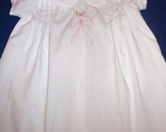 Embroider white dress