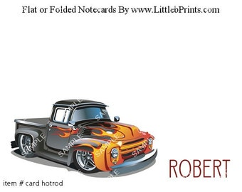 Antique Truck Note Cards Set of 10 personalized flat or folded cards