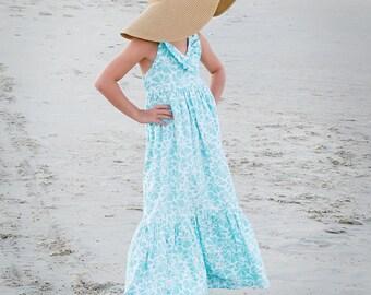 Little Girls Maxi Dress Toddler Maxi Dress EASTER dress Maxi Dress Flower Girl Dress, Size 2T, 3T, 4T, 5,  6, 6X, 7, 8, 10