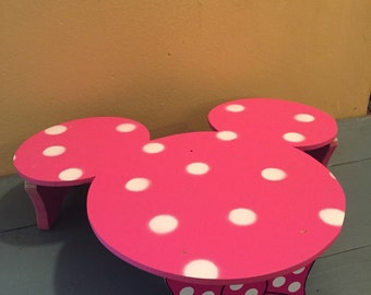 Minnie mouse Birthday Cake Stand, Cake display stand, Minnie mouse party, Mickey decorations, Birthday Centerpiece