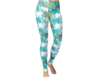 Line Elephant Animal Leggings