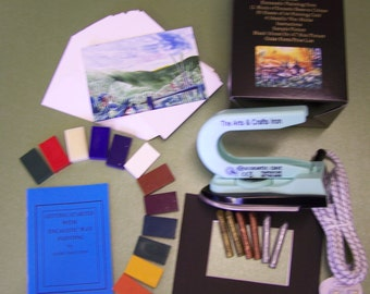 Encaustic Wax Art Starter Set with Iron - BRAND NEW - UK