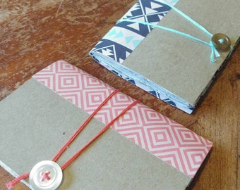 Mini Notebook - Recycled Notebook - Handmade Paper - Recycled paper - Journal - Upcycled