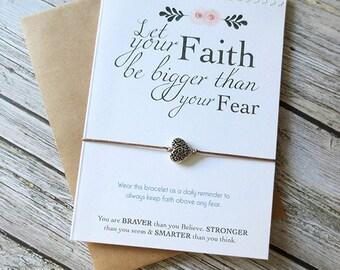 Faith over Fear Bracelet, Inspirational Gift, TTC gift, Pregnancy Gift