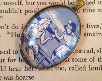 """Nancy Drew """"The Clue of the Broken Locket"""" pendant"""