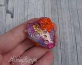 Hot Pink Heart Bead, Hand...
