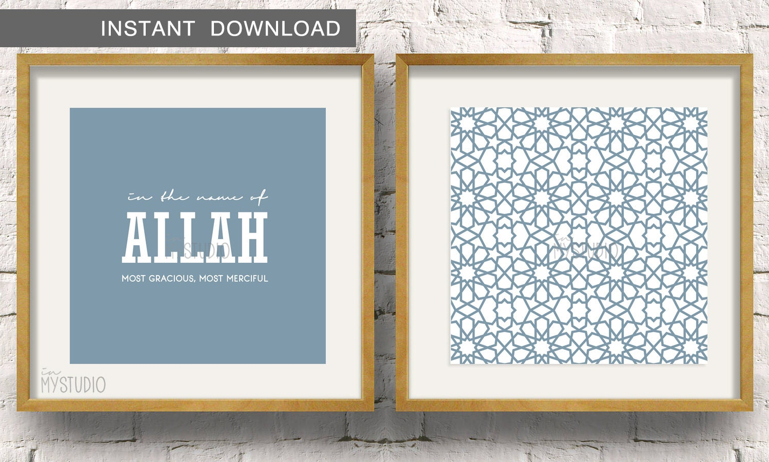 Instant Download In the name of Allah paired with a Moroccan