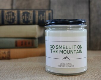 Go Smell It On The Mountain - Book Inspired Scented Soy Candles -  8oz glass jar