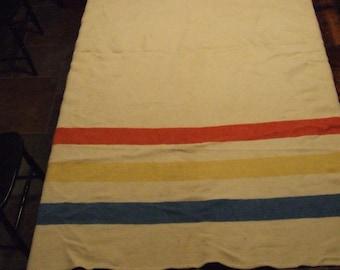 """Vintage Wool """"Hudson style"""" Blanket"""