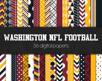 Washington NFL Football Digital Paper Pack - INSTANT DOWNLOAD