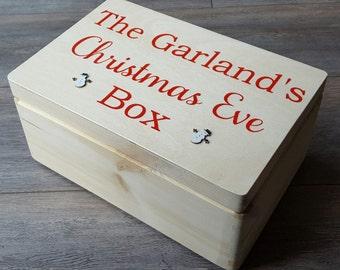 Christmas Eve Box - Chest Style - family christmas eve box- Xmas eve box - christmas tradition - personalised Christmas eve box