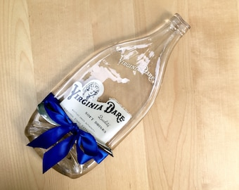 Large Vintage Virginia Dare Soda Bottle Cheese Tray, Upcycled Recycled Melted Bottle, Gift Ideas For Men, Brooklyn NY, Hooversville, PA
