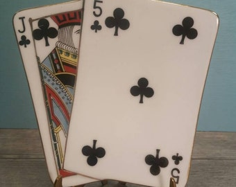 Jack & Five of Clubs Dish - Japan
