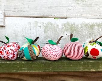 Plushie Apples Cotton Stuffed Apples
