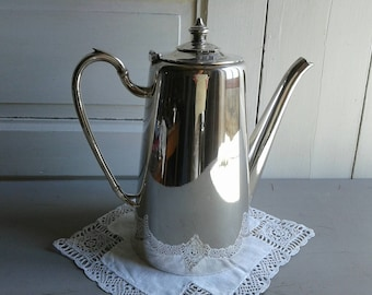 Beautifully stylish, French vintage, large silver plated coffee pot, maker marks, in very good condition.