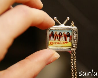 """Television necklace """"Baywatch"""". Retro, 90's charm"""