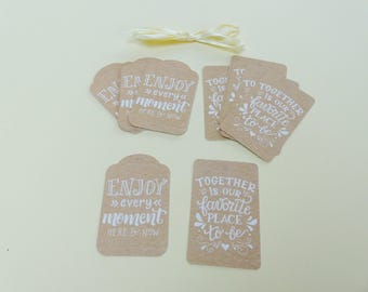 12 label tags gifts 6 envery time Enjoy scrapbooking embellishment here and now 6 Together is our favorite place