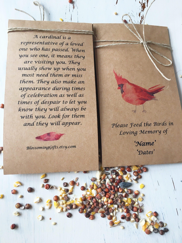 Funeral favor bird seed funeral bird seed favor Funeral