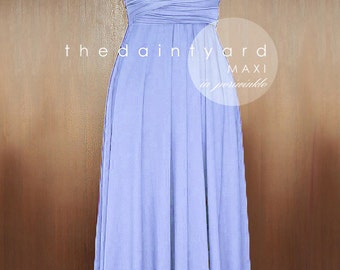 MAXI Periwinkle Bridesmaid Dress Convertible Dress Infinity Dress Multiway Dress Twist Wrap Dress Wedding Prom Dress Full Length Dress