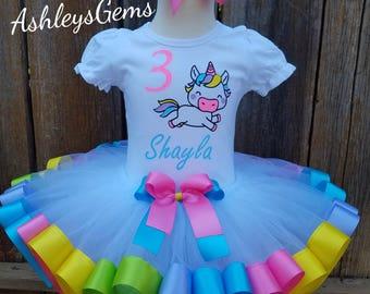 Unicorn Birthday Outfit, Unicorn Tutu, Unicorn Shirt, Unicorn Party, Unicorn Tutu Dress, Rainbow Unicorn, Baby Unicorn Outfit, Unicorn Dress