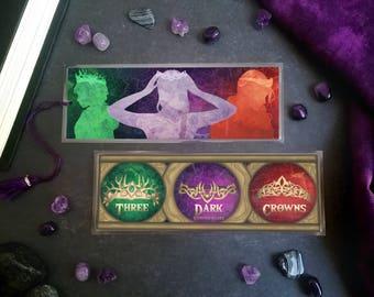 Three Dark Crowns Bookmark - Handmade