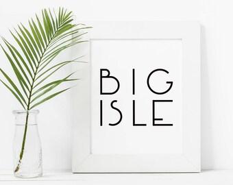 Big Island Wall Art, Hawaii Decor, Beach Decor, Made In Hawaii, Big Island Print, Big Island Hawaii, Printable Artwork, Digital Art