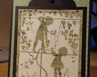 Sweet silouhette card