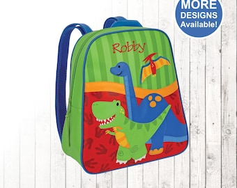 Personalized Dinosaur Backpack, Stephen Joseph Go Go Backpack, Dinosaur Wallet, Boys Wallet, Boy Gift, Personalized Backpack, Kids Backpack