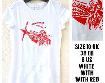 vintage style woman's t-shirt - FLYING TIGERS