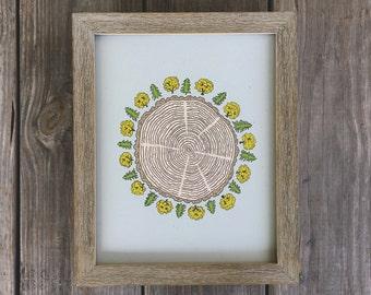 Tree-of-life, Tree Ring Print, Tree Art Print