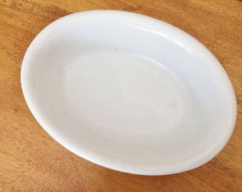 ANTIQUE J & G MEAKIN Ironstone Dish - Antique White Ironstone Dish - Antique Ironstone Condiment Relish Dish - 1900's Antique Dish