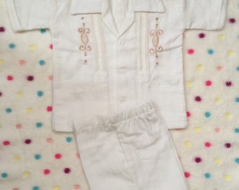 Beautiful Boys Mexican  Guayabera with short.