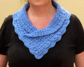 Easy Crochet Pattern Collared Scarf