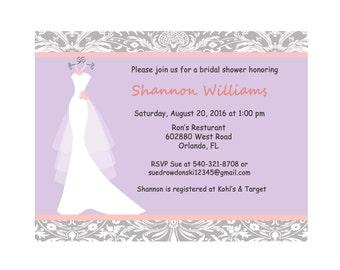 Printable Bridal Shower Invitation - Coral Wedding Invitations - Couples Wedding Shower Invitations - Bridal Shower Invite - DIY Wedding 67