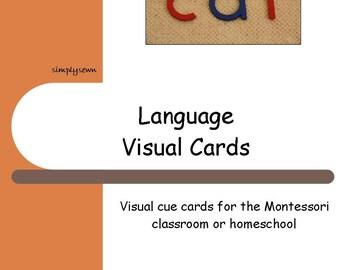 Montessori Visual Schedule Cards - Language
