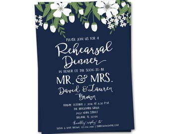 Rehearsal Dinner Invitation, Wedding Rehearsal Invitation, Rehearsal Dinner Invites, Elegant Rehearsal Dinner Invite