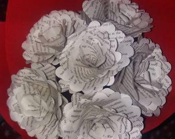 3 x catherine cookson paper rose bouquet