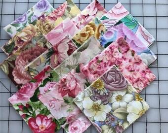 "Rose Garden 60 Cotton 4""Squares"