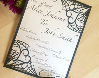 Gothic invitations Etsy