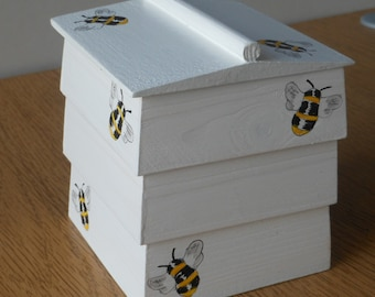 Bee hive decorative trinket/ornamental wooden box/WBC hive.