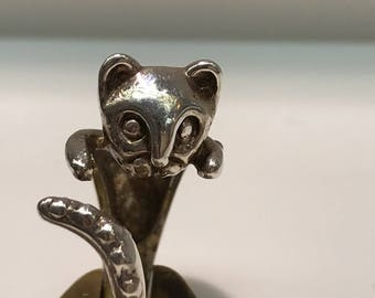 Cat Ring in Silver, Cat Rings, Cats, Kitty Rings, Kitties, Kitty Cat Rings, I Love Animals, I Love Cats, Cat Ring