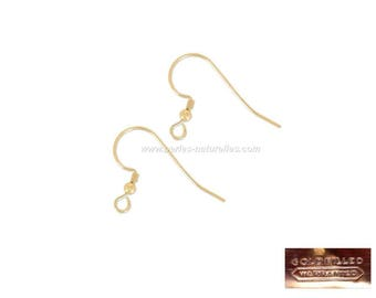 Gold Filled 14K - 2 or 10 Earring hook 17mm - With Ball