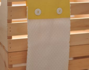 Cute as a Button Hanging Towel--Yellow