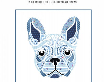 Fleur the Frenchie Quilt Kit featuring Blue Carolina by Tattooed Quilter